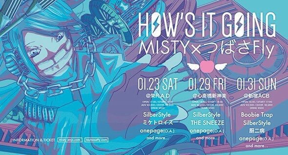 HOW'S IT GOING MISTY×つばさFly@新宿ACB